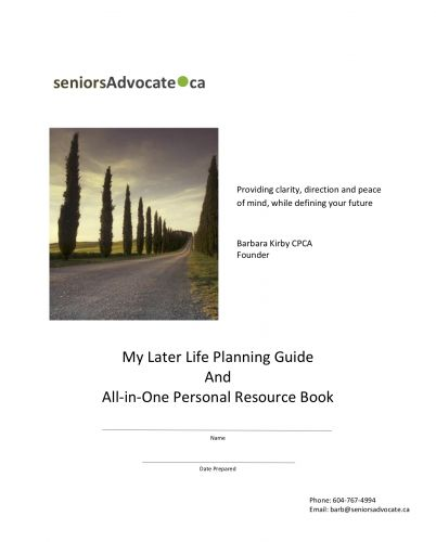 Later Life Planning- Advance Payment Discount